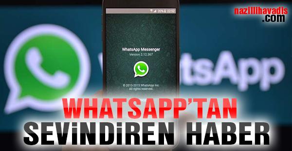 WhatsApp'tan sevindiren haber