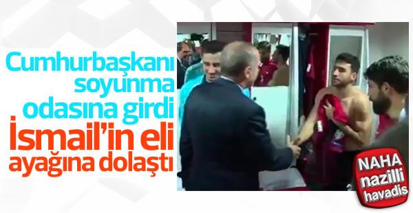 İsmail Köybaşı Erdoğan karşısında heyecanlandı