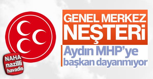 Aydın MHP'ye Başkan Dayanmıyor