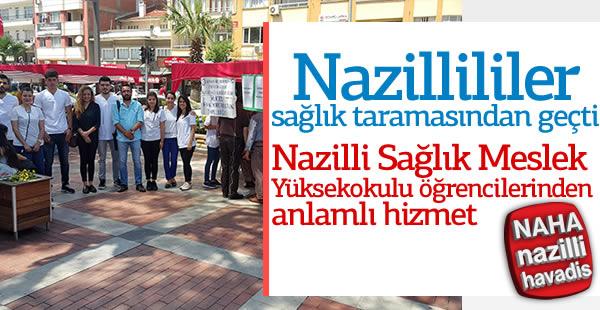 Nazillililer sağlık taramasından geçti