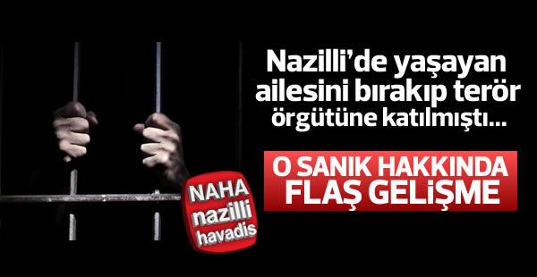 Nazilli'de, terör örgütüne bağlı sanığa hapis cezası