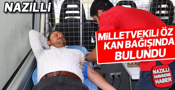 Milletvekili Abdurrahman Öz kan bağışında bulundu