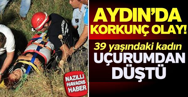 Aydın'da 39 yaşındaki kadın uçurumdan düştü