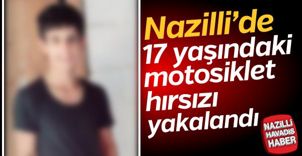 Nazilli'de motosiklet hırsızı yakalandı