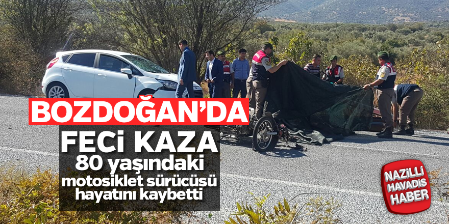 Bozdoğan'da feci kaza; 1 ölü