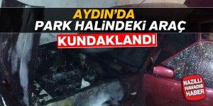 Aydın'da otomobil kundaklandı