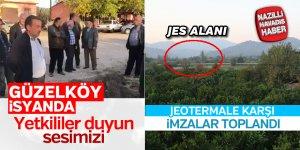 Güzelköy'de jeotermale karşı imzalar toplandı