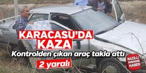 Karacasu'da korkutan kaza; 2 yaralı