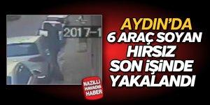 Aydın'da 6 araç soyan hırsız yakalandı