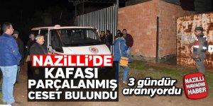 Nazilli'de kafası parçalanmış ceset bulundu