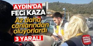 Aydın'da feci kaza; 3 yaralı