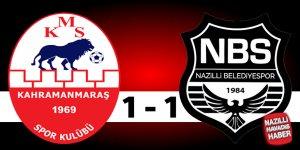 Kahramanmaraşspor: 1 Nazilli Belediyespor: 1