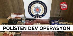 Didim'de 400 paket kaçak sigara ele geçirildi