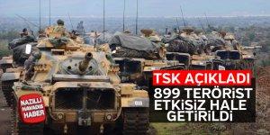 Zeytin Dalı Harekatı'nda 899 terörist etkisiz hale getirildi
