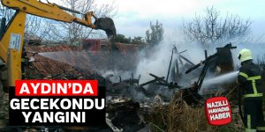 Didim'de gecekondu yangını