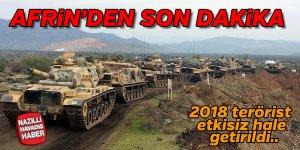 Afrin'den son dakika
