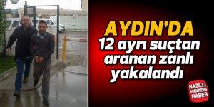 Aydın'da 12 ayrı suçtan aranan zanlı yakalandı