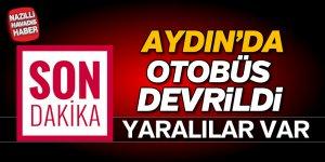 Aydın'da otobüs devrildi; 12 yaralı