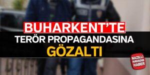 Buharkent'te terör propagandasına gözaltı