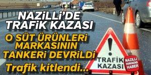 Nazilli'de trafik kazası ! Trafik kitlendi