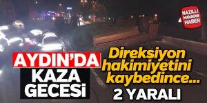 Aydın'da direksiyon hakimiyetini kaybeden sürücü takla attı