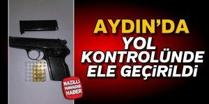 Aydın'da yol kontrolünde silah ele geçirildi