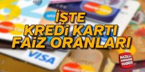 İşte kredi kartı faiz oranları