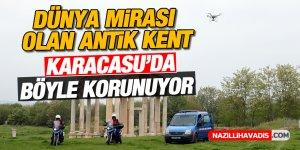 Dünya mirası olan antik kent Karacasu'da böyle korunuyor