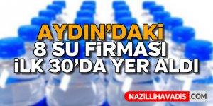 Aydın'daki 8 su firması ilk 30'da