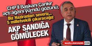 CHP İl Başkanı Çankır açtı ağzını yumdu gözünü