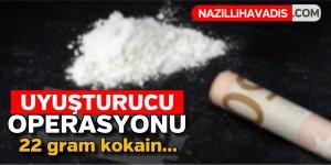 Uyuşturucu operasyonu : 22 gram kokain...