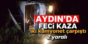 Aydın'da feci kaza: 2 yaralı