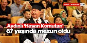 Aydınlı emekli albay 67 yaşında mezun oldu