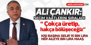 Ali Çankır seçim vaatlerini sıraladı