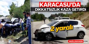 Karacasu'da korkutan kaza