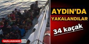 Aydın'da 34 Yabancı Uyruklu kaçarken yakalandı