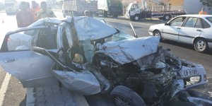 Nazilli'de feci kaza ; 1'i ağır 4 yaralı