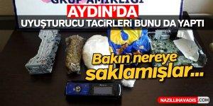Aydın'da uyuşturucu tacirleri bunu da yaptı