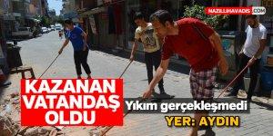 Aydın'da kazanan vatandaş oldu