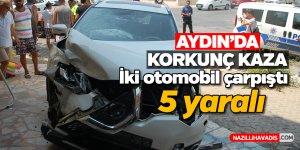 Aydın'da trafik kazası; 5 yaralı