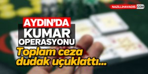 Aydın'da kumar baskını