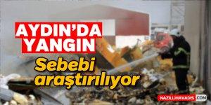 Aydın'da hurdalık alanda yangın çıktı