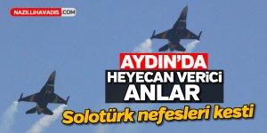 Aydın'da Solotürk nefesleri kesti