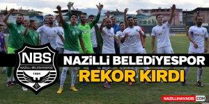 Nazilli Belediyespor rekor kırdı