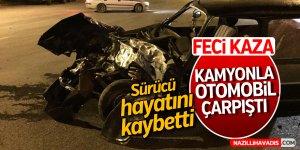 Kamyonla otomobil çarpıştı: 1 ölü