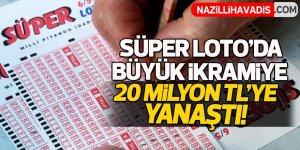 Süper Loto'da büyük ikramiye 20 milyon TL'ye yaklaştı