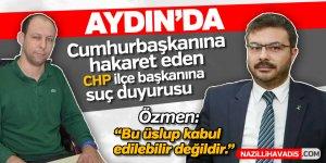 Aydın'daki Cumhurbaşkanına hakaret iddiası