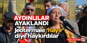 Aydın'da jeotermal enerji santraline tepki