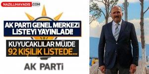 AK Parti Genel Merkezi listeyi yayınladı!