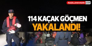 114 kaçak göçmen yakalandı